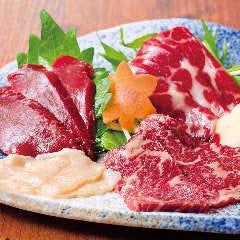 桜肉刺身3種盛合せ