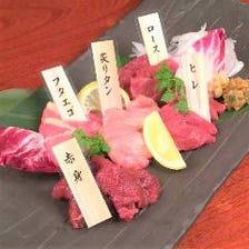 桜肉刺身5種盛合せ