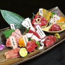 肉寿司・刺身・鍋など多彩なメニュー