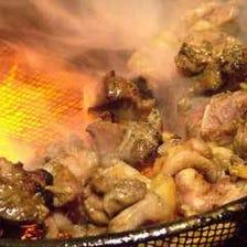 地鶏のもも焼き