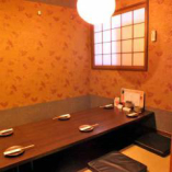 宴会・接待・デートにも最適な落ち着きのある和空間個室。最大60名様までご利用可能