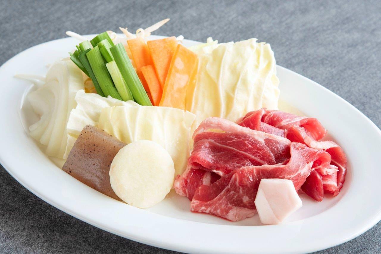 ジンギスカン定食:特選ラム肉(肉120g)ランチメニュー(月〜金の平日11:30〜14:00)