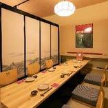 ご宴会にも最適な大小個室をご用意しております。