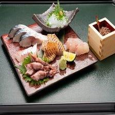 ◆珍しい地魚の刺身盛り合わせ!