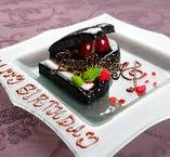 特製ピアノ型ケーキでお祝い♪メッセージは自由にお入れできます