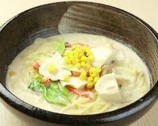 かにとお豆腐と白菜の西京みそクリームスープ(かに)