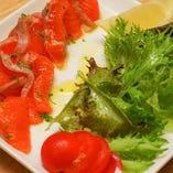 サーモンと葉野菜~ソルト&オリーブ~