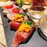 黒毛和牛のうにく寿司など贅沢メニューをお楽しみ下さい♪