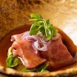 【近江牛】 手切りサーロインと野菜をしゃぶしゃぶで仕立てで
