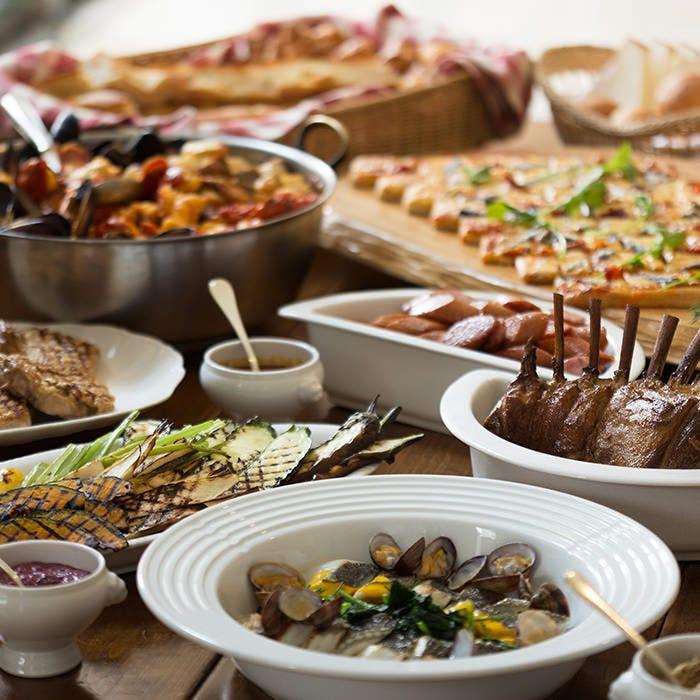 50種類以上もの料理が集結