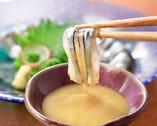 鹿児島県阿久根産きびなごのお刺身は酢味噌でどうぞ