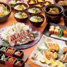 会食コースは個別皿でのご提供です