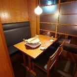 テーブル個室最大4名様、少人数様の歓送迎会に最適!