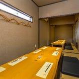 【個室・貸切】 プライベート空間でのお食事が楽しめます。