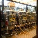 【ビアタンクで管理】 工場直送生ビールをプロの技で鮮度キープ