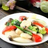 ホタテと季節野菜の炒め