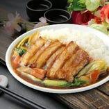 豚バラ肉かけご飯