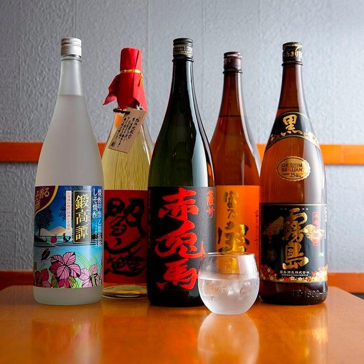 さつま美人など九州の美酒が勢揃い
