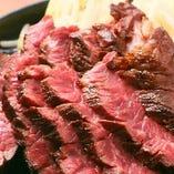 牛ハラミ炭火ステーキ