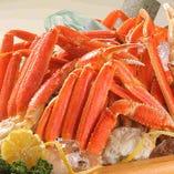 週末ディナーはズワイ蟹食べ放題!