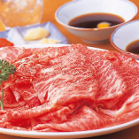 鮮度抜群の牛肉は霜降りでもあっさりとしています
