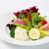 有機栽培の野菜類
