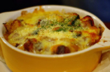 ほくほくのポテトにとろとろのチーズを引き立てるアンチョビの塩加減が絶妙な組み合わせ♪こりゃたまらん! ポテトのアンチョビチーズ焼き¥580