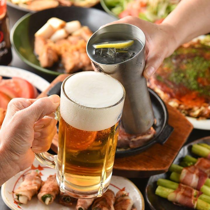 昔ながらのお好み焼きと地酒で楽しいご宴会はいかがでしょうか。