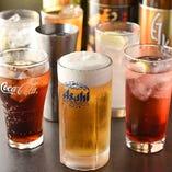 飲み放題のドリンクはビールや焼酎、サワーやカクテルなど全11種!