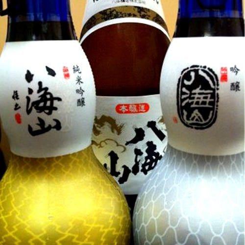 常に名酒八海山を3種類。