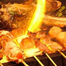 極上部位5種の串焼き食べ比べ