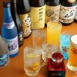 【豊富なお酒類】 玄人も唸る銘酒や、女性にお勧めハイボール