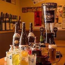 歓送迎会は大迫力ビールタワーで乾杯