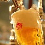 伝統の生! サッポロ生ビールをご堪能ください。