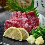 福島産馬肉を使用した場肉料理もオススメ★