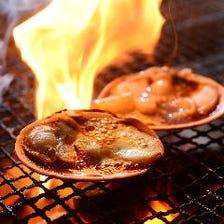 囲炉裏端でほっこり◎炉端料理