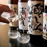 厳選した日本酒は料理に合う銘柄を取り揃え