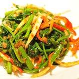 空心菜のピリ辛炒め