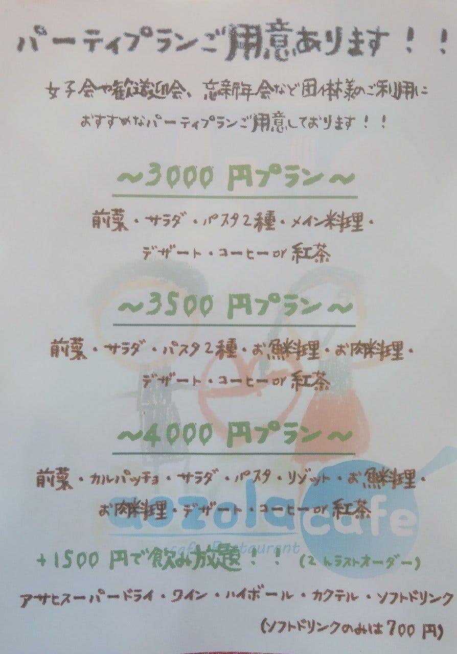3000円~大皿パーティプランご用意あります!!