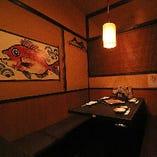2名様~利用できる個室完備。友人との食事・同僚との飲み会に!