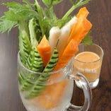 野菜スティック バーニャカウダソース