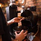 お店で焙煎するこだわりコーヒー