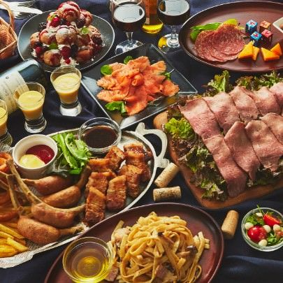 【プレミアムバンケットコース】個室2.5時間《料理11品17種》華やかな料理たちがパーティーを盛り上げる!
