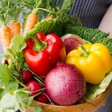 新鮮な三浦野菜と逗子湘南の海の幸