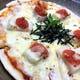 明太子と餅ベーコンの和風ピザ