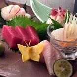 ソイや真鯛のお刺身も美味しいです。