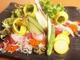 「海の幸のサラダ」有機野菜と魚介の豪華共演!!