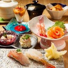 【女性限定】ちょこっと女子会鮨会席。1名様、当日予約でもOK!お好きなお寿司3貫を選べる大満足のプラン