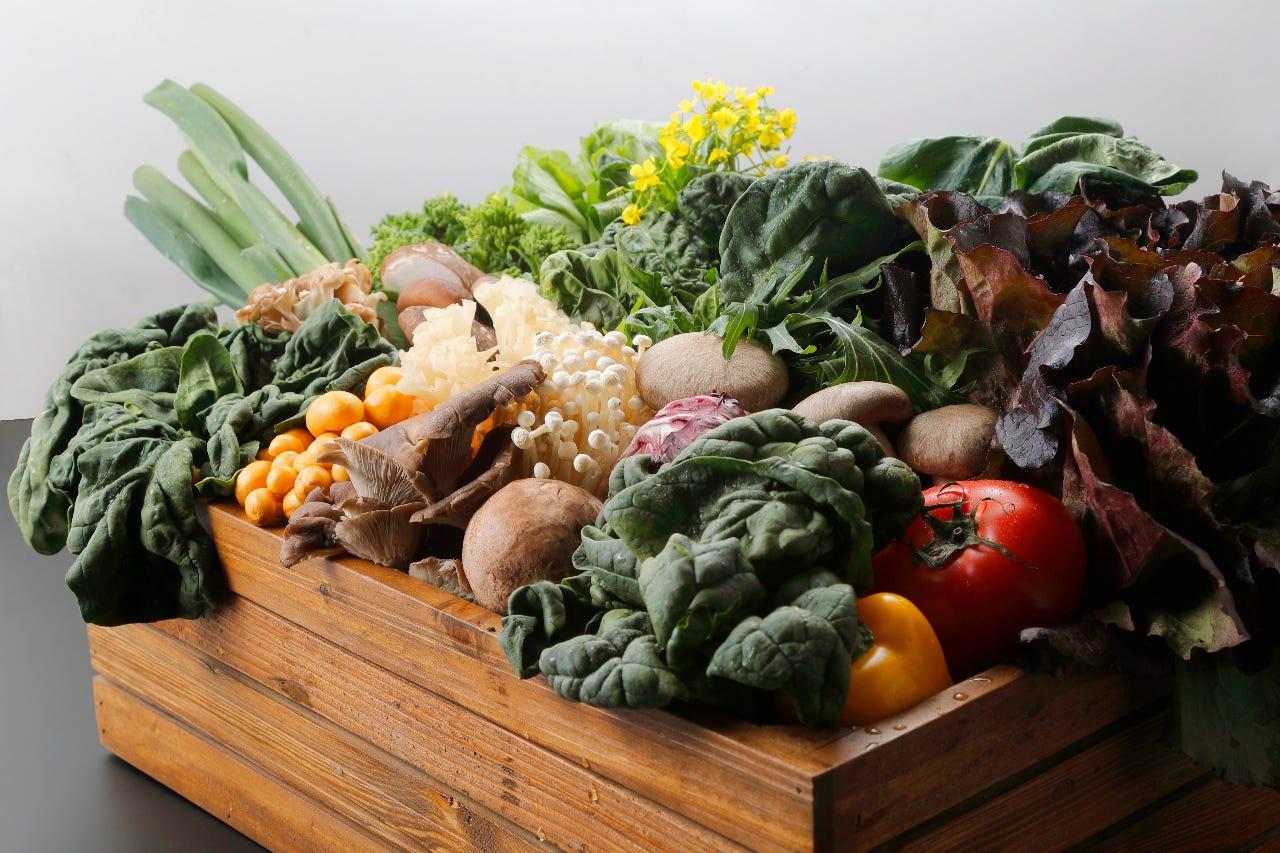 山梨県産の採れたて野菜