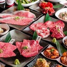 《堪能コース》黒毛和牛をはじめ特選肉を思う存分堪能!2H飲み放題付 11品 6,500円